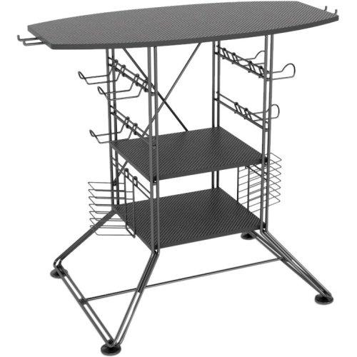 "Atlantic, Inc - Atlantic Centipede Tv Stand - Up To 37"" Screen Support - 105 Lb Load Capacity - Lcd Display Type Supported - 30"" Height X 19.8"" Width - Floor Stand - Wood, Metal, Steel, Medium Density Fiberboard (Mdf), Polyvinyl Chloride (Pvc) - Black ""Pr"