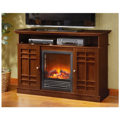 CASTLECREEK Media Stand Electric Fireplace, DARK CHERRY picture B009IK7QX2.jpg