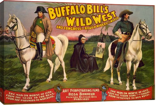 Buffalo Bill's Wild West, Horse & Painter by Courier Litho. Co. - 29-in x 20-in Giclée Art Print at Amazon.com