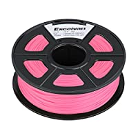 Excelvan 1.75mm PLA 3D Printer Filament - 1kg Spool (2.2 lbs) - Dimensional Accuracy +/- 0.02mm - Multi Colors Available (pink) from Excelvan