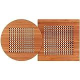 Totally Bamboo Lattice Trivets, Set of 2