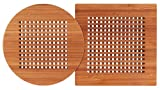 Totally Bamboo Lattice Trivets, Set of 2