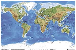 GB eye Ltd, Planetary Visions, Physical Map of the World, Maxi Poster, (61x91.5cm) GN0394