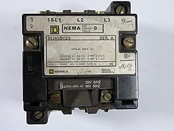 Motor starter square d 8536sbo2s ser a nema size 0 amazon for When do you need a motor starter