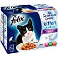 Felix As Good as it Looks Kitten Favourites Selection 12 x 100 g (Pack of 4, Total 48 Pouches)