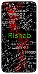 Rishab (The Musical Note Re,Morality,Morality) Name & Sign Printed All over customize & Personalized!! Protective back cover for your Smart Phone : Apple iPhone 5/5S