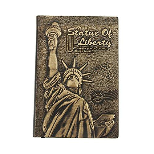 georgie neu notizbuch tagebuch hardcover din a4 128 seiten 80 g m kariert freiheitsstatue. Black Bedroom Furniture Sets. Home Design Ideas