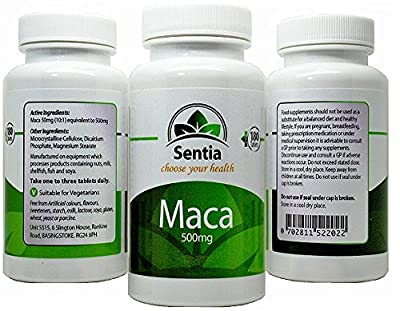 Maca Root 500mg x 180 Capsule shaped Tablets - 10:1 Extract - SUITABLE FOR VEGETARIANS - Pharmaceutical Quality - Maca Capsules can help Menopausal Symptoms - Depression - Energy Boost - Vitality - Fight Fatigue - Sex Drive - Aids Fertility - Manufactured
