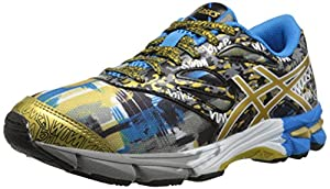 ASICS Gel Noosa Tri 10 GS GR Triathlon Shoe (Little Kid/Big Kid), Black/Gold/Gold Ribbon, 3 M US Little Kid