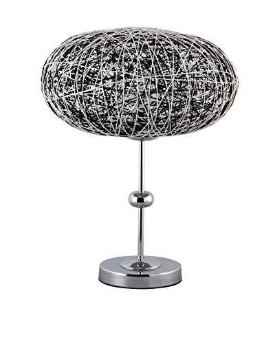 International Designs Zeppelin Table Lamp, Black/White