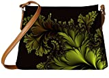 Snoogg Fractal Leaf Abstract Designer Womens Carry Around Sling Bags