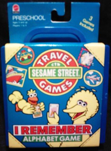 Buy Sesame Street Travel Games I Remember Alphabet Game