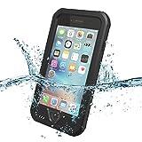 ZVE Iphone6/6S用 4.7インチ ケース 防水 耐震 防塵 耐衝撃 本体液晶保護フィルム付き (ブラック)