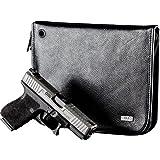 Liberty Safe Handgun Case Leather Compact, Black