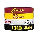 Silicone Wristband Bracelet NBA, LeBron James, more NBA Stars to Arrive-4PCS, Assorted color.(LeBron James)