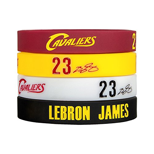 Silicone Wristband Bracelet NBA, LeBron James, more NBA Stars to Arrive-4PCS, Assorted color.(LeBron James) (All Lebron James Shoes compare prices)