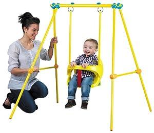 baby und kinderschaukel spongebob mit gestell von smoby sport freizeit. Black Bedroom Furniture Sets. Home Design Ideas