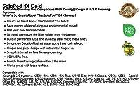 Solofill 10728-01-BLACK K4 Gold Refillable Brewing Pod, Black