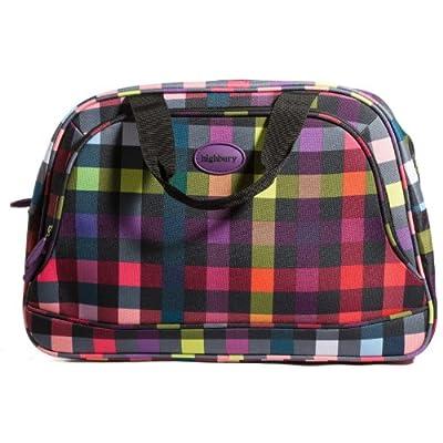 Highbury Ladies Flight Bag, Vanity Case, Carry On, Cabin Bag (red box print).