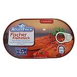 2er Pack Rügen Fisch Fischerfrühstück (2 x 200 g) Makrelenfilets in scharf würziger Tomaten-Creme mit Paprika Fischbüchse Dosenfisch