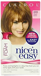 Clairol Nice'n Easy Colour Blend Foam Permanent Hair Colour - Medium Reddish Blonde 8Rb