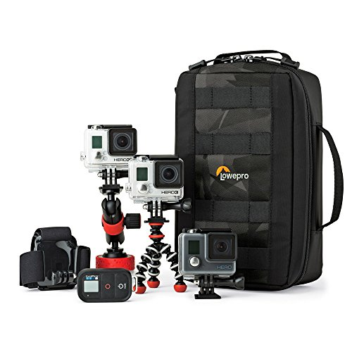 ViewPoint CS 80 From Lowepro - 3 GoPro or Other Action Video Cameras, All The Gear and Mounts You Need,One Protective Case