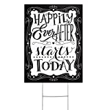 Hortense B Hewitt Yard Sign, Happily Ever After