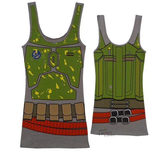 Star Wars I Am Boba Fett Darth Vader Tunic Tank Top (Small, Boba Fett)