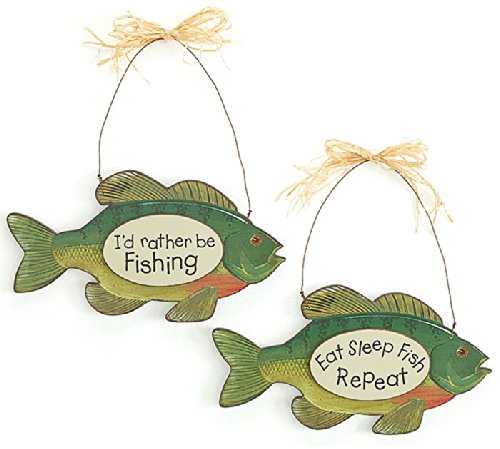 Wall Hanging With Fish Messages-Gift Accessory Sign Decor