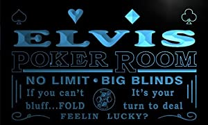 pd673-b Elvis Man Cave Poker Room Bar Beer Neon Sign