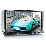 """XOMAX XM-2DTSB79 Autoradio / Radio para coche / Moniceiver con Bluetooth función de manos libres & reproducción de música + 18 cm / 7"""" pulgadas de pantalla táctil + código libre reproductor de DVD / CD player + ranura para tarjetas SD + USB puerto (hasta 32 GB!) + Audio & Video: MP3, WMA, MPEG4, AVI, DIVX, etc. + RDS Radio Tuner + conectores para subwoofer, cámara de visión trasera y mandos en el volante + doble DIN (2-DIN) Tamaño de instalación estándar + control remoto incluido, 2 DIN marco de montaje & apertura"""