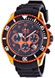 Ice-Watch Men's Quartz Watch with Black Dial Chronograph Display and Black Silicone Strap CH.KOE.BB.S.12