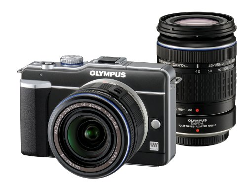 Imagen de Olympus PEN E-PL1 12.3MP Live MOS de cámara Micro Four Thirds lentes intercambiables digital con 14-42mm f/3.5-5.6 Zuiko Digital Zoom Lens (Negro)