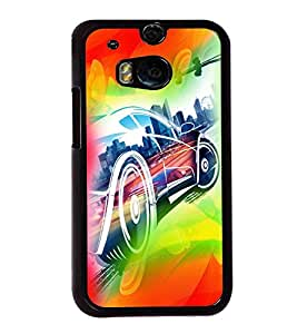 printtech Superfast car Back Case Cover for Huawei Honor 7
