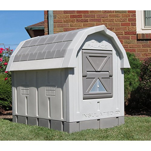 ASL Solutions Dog Palace for Med to Large Dogs - Gray (Dog Palace Dog House compare prices)