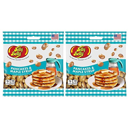 Jelly Belly Pancakes & Maple Syrup - 2 Pack Deal - Retail Package (Pancake Jelly compare prices)