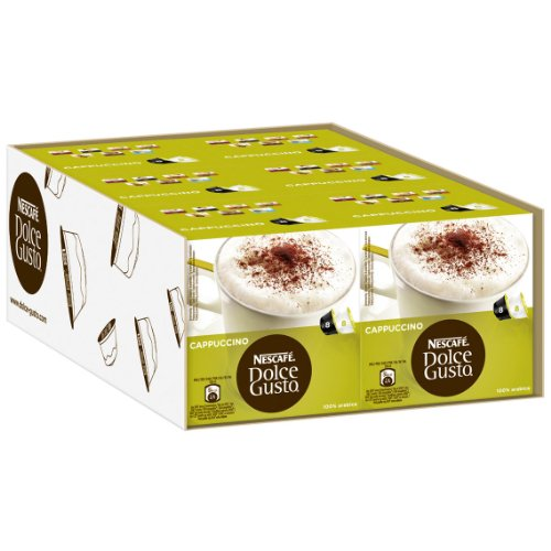 Nescafé Dolce Gusto Cappuccino, Pack of 6, 6 x 16 Capsules (48 Servings)