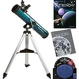"Orion SpaceProbe 3 3"" (76mm) F/9.2 (700mm) AZ Reflector Telescope & Starter Kit 1.25"" Rack-&-Pinion Focuser 1.52 arc sec EZ Finder II FinderScope"