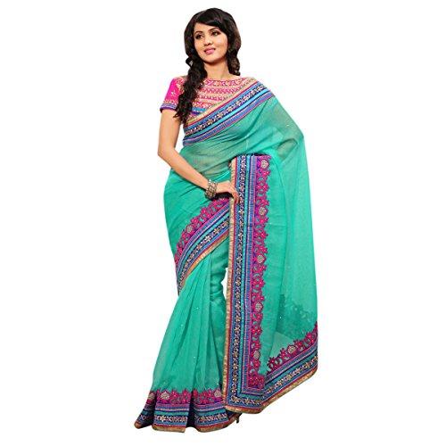 Triveni Jute Silk Saree (TSAMK8328a_Sea Green)