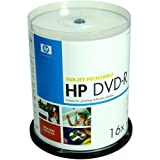 HP DVD-R 4.7GB 16x Inkjet-Printable 100 Spindle (DMJPW045)