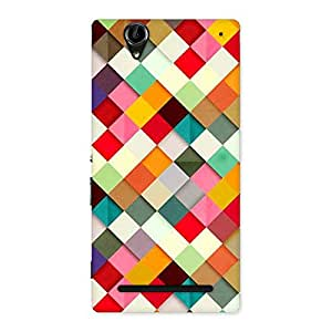 Premium Color Ribbons Back Case Cover for Sony Xperia T2