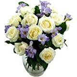 Clare Florist Breathtaking Amethyst Bouquet - Fresh Rose and Freesia Flowers with FREE Delivery