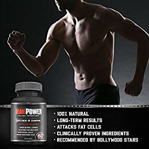 #1 Testosterone Booster Supplement Manpowerx - Ingredients clinically proven in HUMAN trials to improve testosterone levels up to 132%