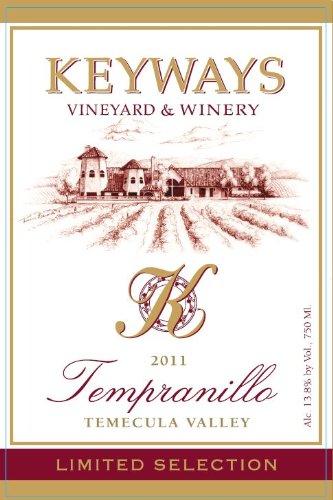 2011 Keyways Vineyard And Winery Estate Reserve Tempranillo, Temecula Valley 750 Ml