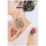 Tattly Temporary Tattoos Floral Set, 1 Ounce (Tamaño: 1 Ounce)