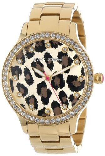 Betsey Johnson Women's BJ00157-08 Analog Leopard Pattern Dial Watch