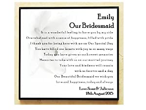 Wedding Gift Thank You Poems For Guests : Personalised Wooden Plaque. Wedding Poem Thank You Gift. Suitable for ...