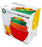 4 Piece Melamine Bowl Set With Lids - 4 Sizes