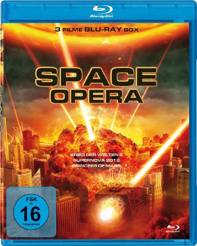 Space Opera - 3 Filme Science Fiction Box (Krieg der Welten 2, Supernova 2012, Princess of Mars) [Blu-ray]