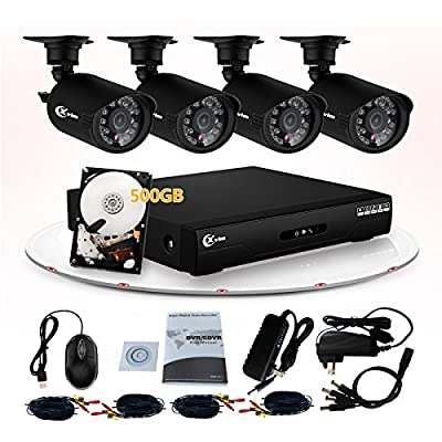 XVIM 4 Channel 960H DVR Security System with 500GB Surveillance HDD and 4 x 700TVL Day/Night IR Weatherproof Cameras